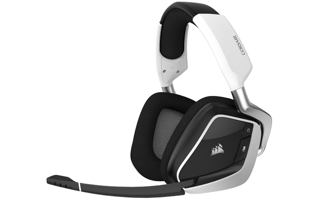 Corsair Void Elite RGB Wireless Gaming Headset (White) for PC