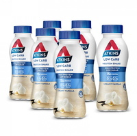Atkins Low Carb Protein Shake - Vanilla (Pack of 6)