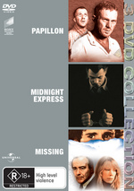 Papillon / Midnight Express / Missing - 3 DVD Collection (3 Disc Set) on DVD