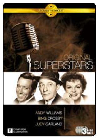 Legends in Concert - Original Superstars (3 Disc Set) DVD image