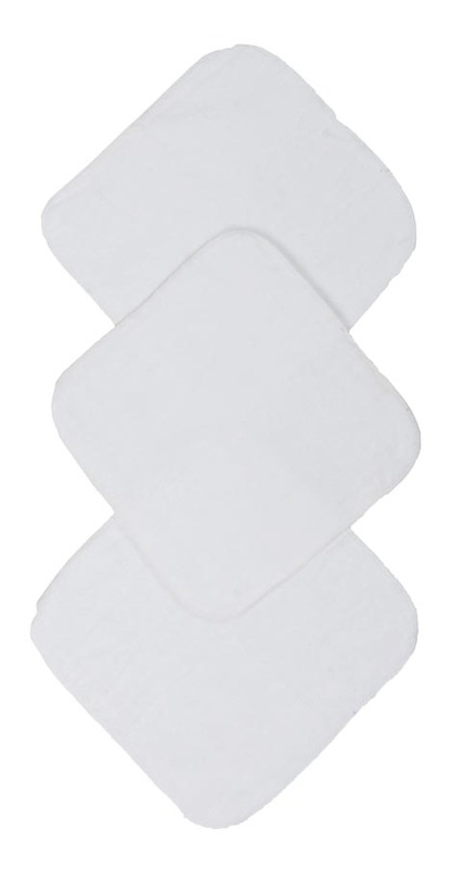 Mum 2 Mum Face Washers - White Pack