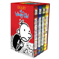 Diary of a Wimpy Kid Boxed Set: Diary of a Wimpy Kid/Rodrick Rules/The Last Straw/Dog Days by Jeff Kinney