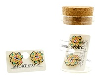 Short Story: Funky Play Earrings - Rainbow Honeycomb