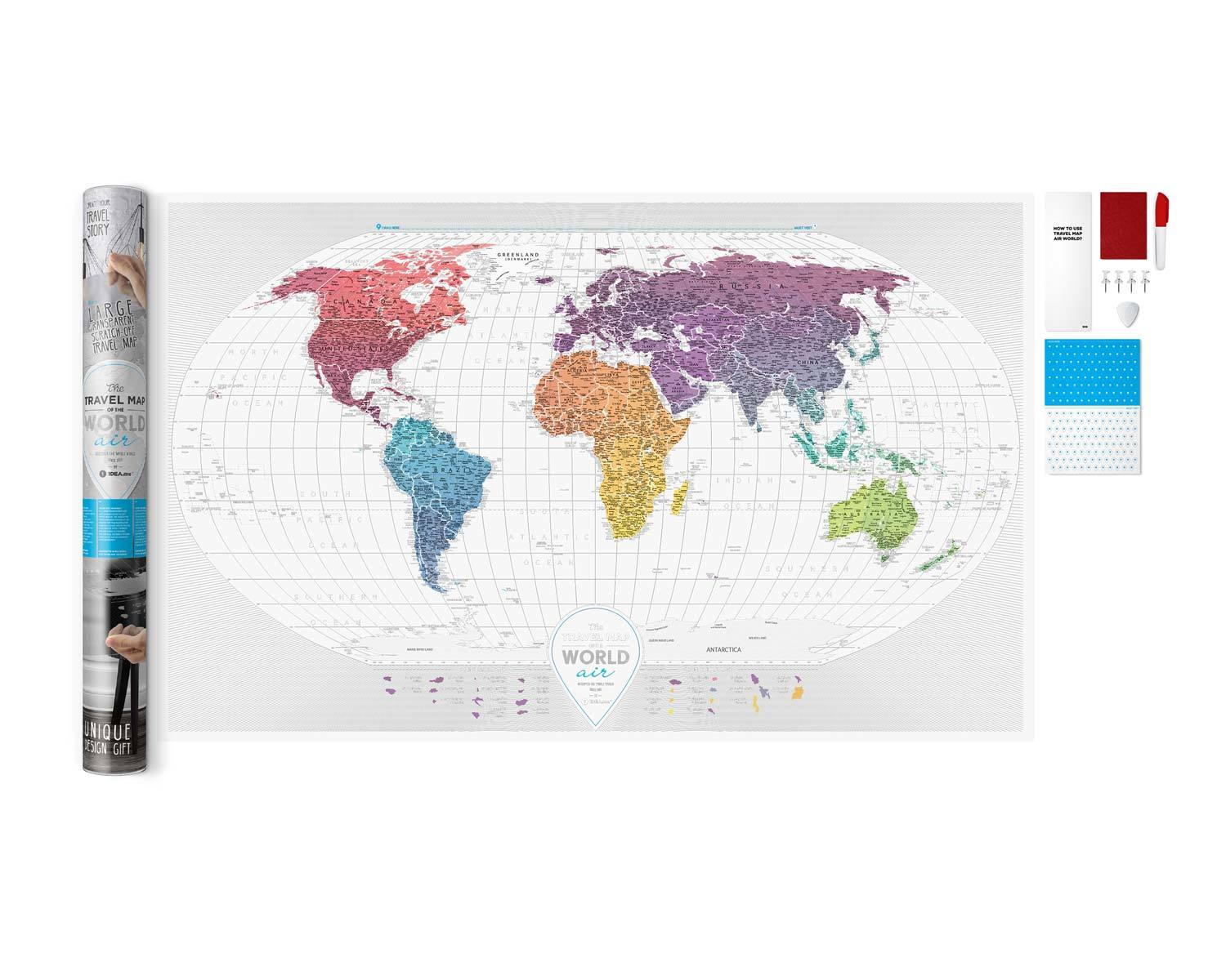 Scratch-off maps Travel Map Air World image