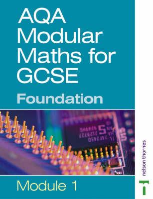 AQA Modular Maths: Foundation: Modular 1 by Paul Metcalf image