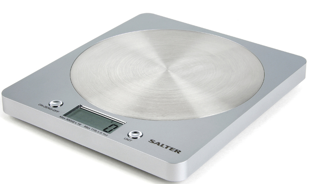 Salter Disc Electronic Scale (Stainless Steel)