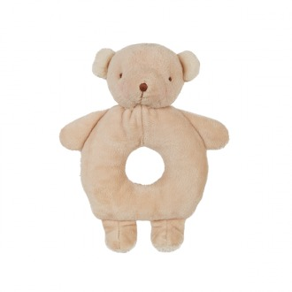 Bunnies By The Bay: Ring Rattle Bao Bao Bear - Taupe (15 cm)