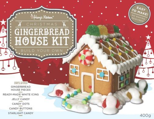 Christmas Gingerbread House Kit.Harry S Kitchen Gingerbread House Kit 400g