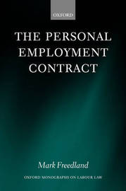 The Personal Employment Contract by Mark R. Freedland