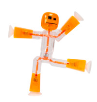 Stikbot: Single Pack - Orange/Clear