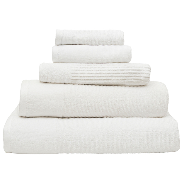 Bambury Costa Cotton Hand Towel (Snow)