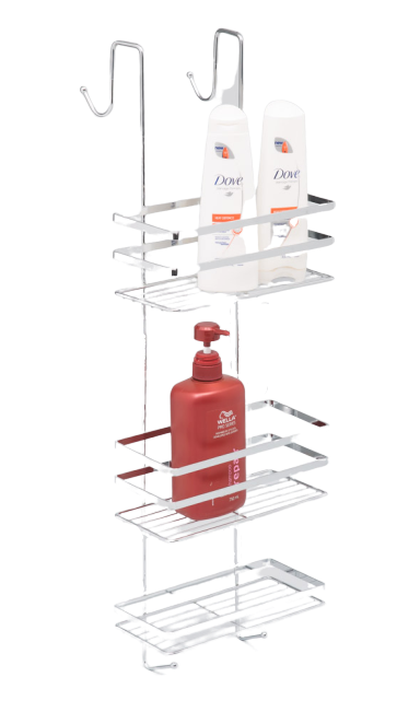 L.T. Williams - Large Chrome Over Door Shower Caddy