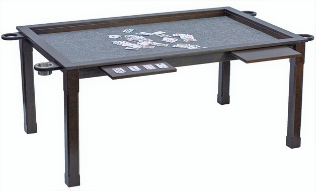 Premium Solid Birch Wood Board Game and Poker Table