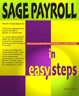 Sage Payroll in Easy Steps by Gillian Gilert image