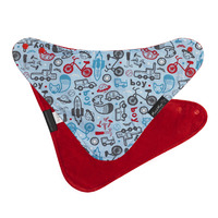 Mum 2 Mum Fashion Bandana Wonder Bib (Boy Print/Red)