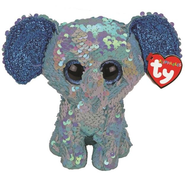 TY Beanie Boo: Flip Stuart Elephant - Small Plush