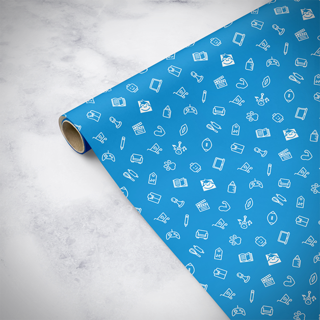 Gorilla Gift: Wrapping Paper - Everyday Blue (2m)