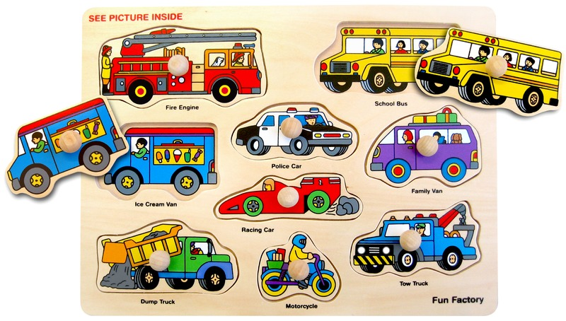 Fun Factory - Fire Engine & Vehicles Puzzle With Knobs image
