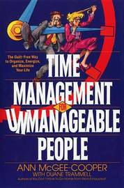 Time Management For Unmanageab by Ann McGee-Cooper image