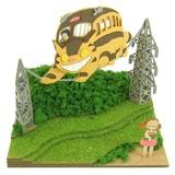 Miniatuart Ghibli Series: Totoro: Mei & Nekobus Papercraft Kit