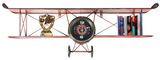 3-D Metal Plane Wall Clock & Shelf (Large)