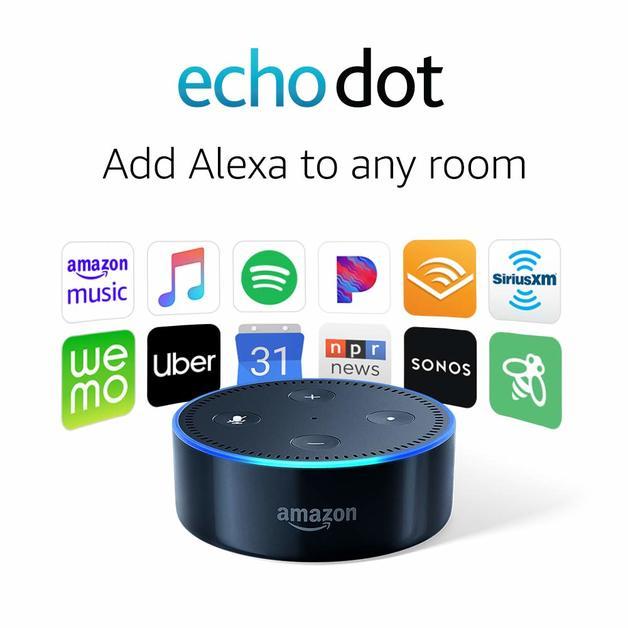 Amazon: Echo Dot Speaker(2nd Generation) - Black