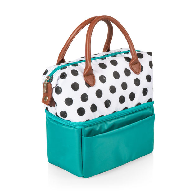 Picnic Time: Urban Lunch Bag (Polka Dots & Teal)