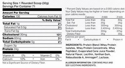 Optimum Nutrition 100% Natural Whey Gold Standard - Vanilla (907g) image