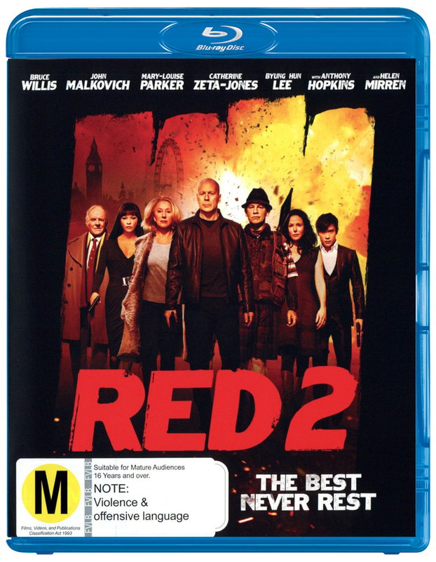 Red 2 on Blu-ray