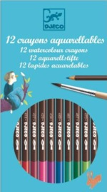 Djeco Design 12 Watercolour Pencils - Classic