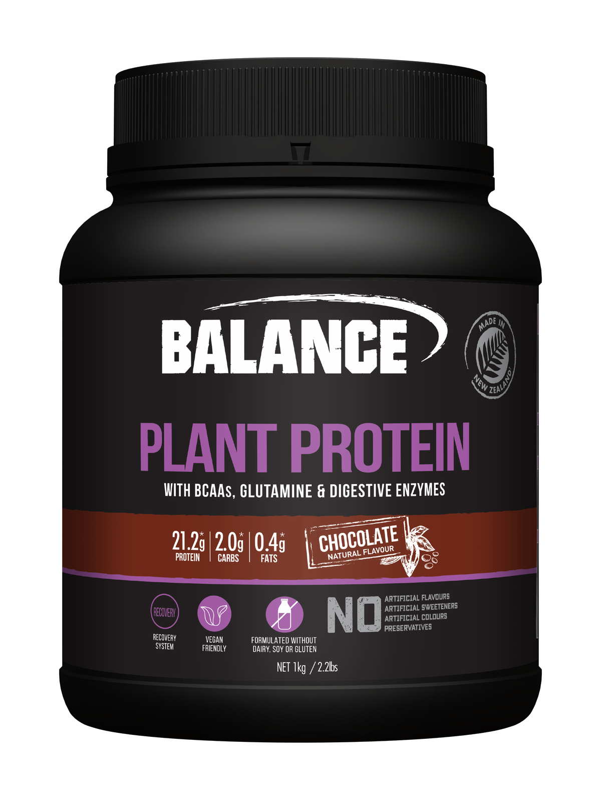 Balance Naturals Plant Protein - Chocolate (1kg) image
