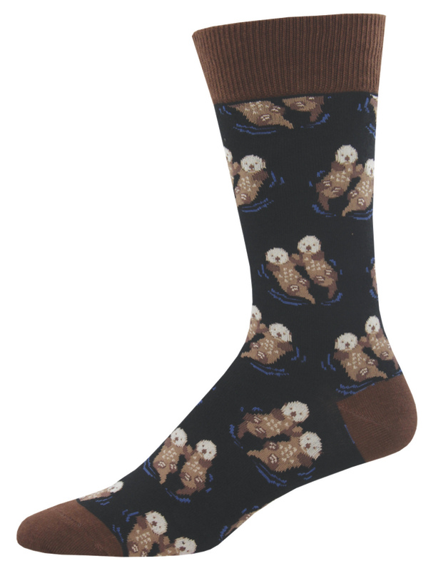 Socksmith: Men's Significant Otter Crew Socks - Black