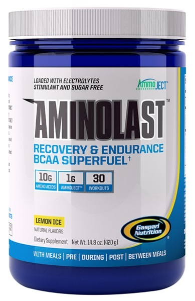 Gaspari Nutrition Aminolast - Lemon Ice (30 servings)