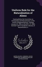 Uniform Rule for the Naturalization of Aliens image