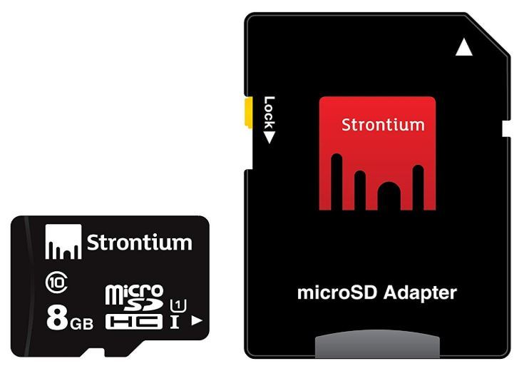 Strontium 8GB Micro SDHC - CLASS 10 With Adapter image