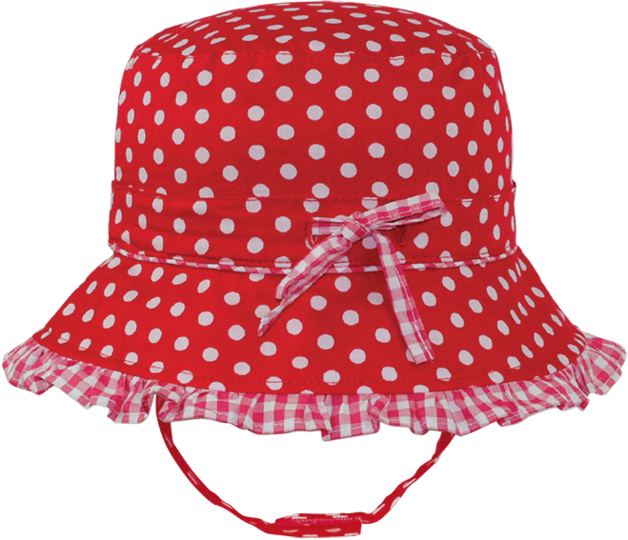 Black Ice: Polka Red Bucket Cap - (2-4 Years)