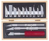 Excel Wooden Box Hobby Knife Set (13pcs)