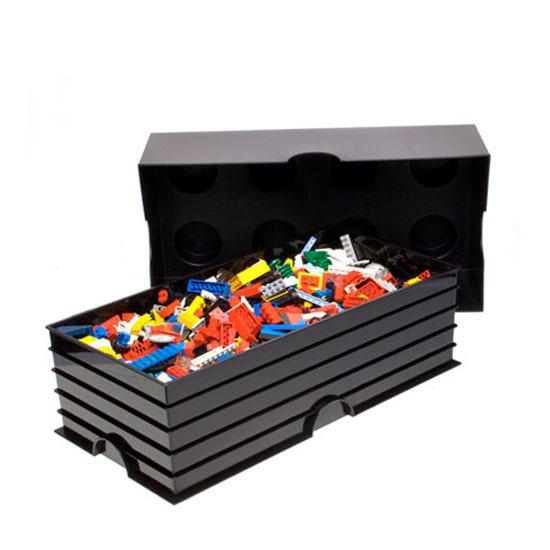 LEGO: Storage Brick 8 - Black