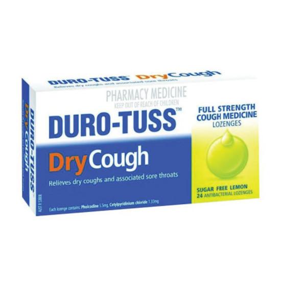 Duro-Tuss Dry Cough Lozenges - Lemon (24's)