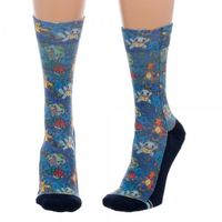 Pokemon: Floral Juniors Sublimated Crew Socks