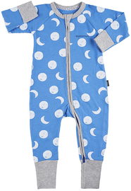 Bonds Zip Wondersuit Long Sleeve - Solar Moon / Liberty Blue (0-3 Months)