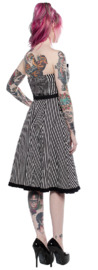 Sourpuss: Striped Sweetheart Dress Black/White (Small) image