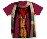 Doctor Who: 4th Doctor Costume T-Shirt - Medium