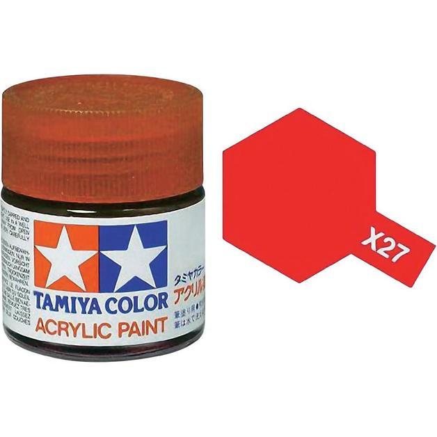 Tamiya Acrylic: Clear Red (X27)