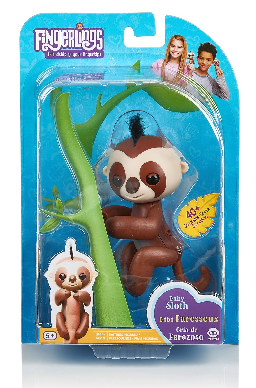 Fingerlings: Interactive Baby Sloth - Brown image