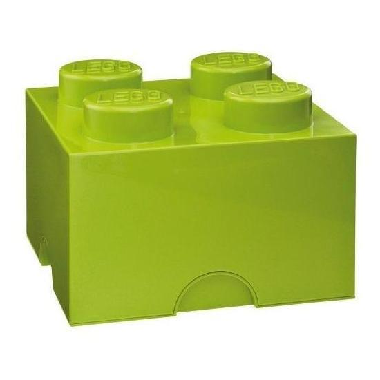 LEGO: Storage Brick 4 - Lime Green