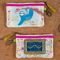 Natural Life: Id Pouch - Sloth Be Happy Pink