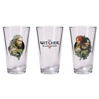 The Witcher 3 Geralt and Triss with Yennefer Pint Glass Set