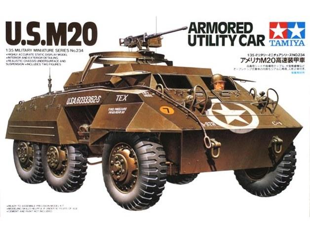 Tamiya: 1/32 M20 Armoured Utility Car - Model Kit