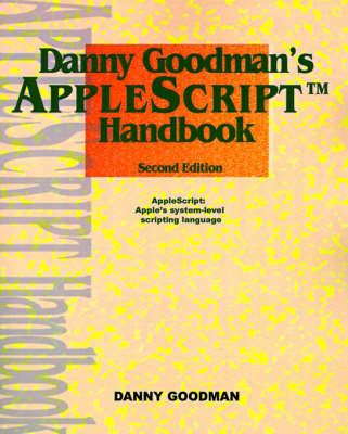 Danny Goodman's Applescript Handbook by Danny Goodman image